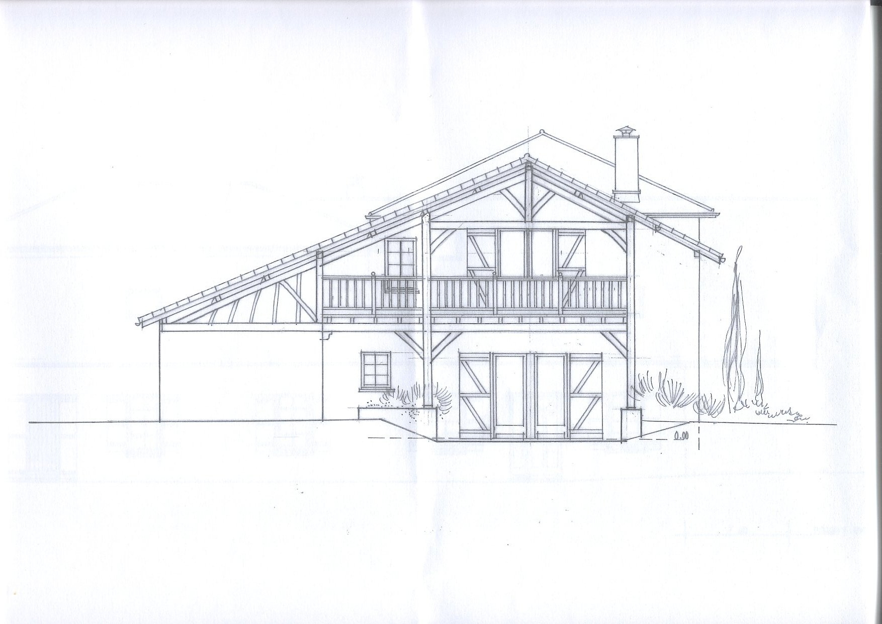Architecture drawing of house delighful architecture for Architectural drawings for houses